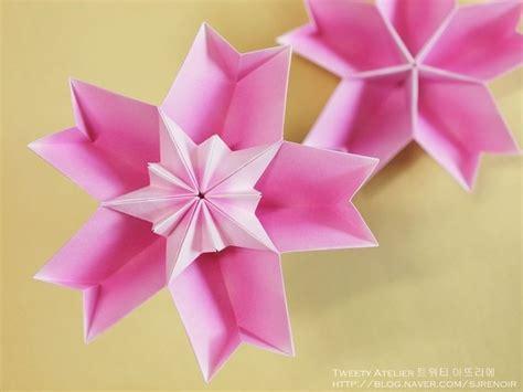 Different Origami Flowers - 종이접기 소품 벚꽃을 닮은 꽃모양 두번째 네이버 블로그 origami flowers