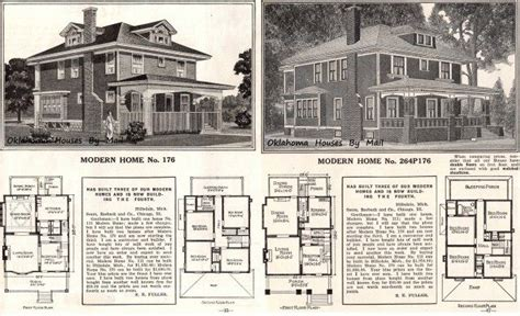 17 Best Images About 12 Hipped Roof 2 Or More Stories 1913 American Foursquare House Plans