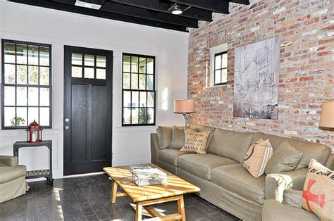 Living Room Brick Accent Wall Brick Accent Wall In Living Room Flickr Photo