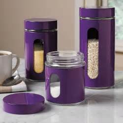 purple canister set storage rack pinterest