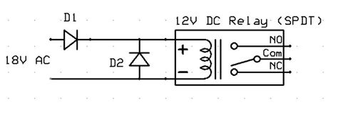 flyback diode types ac cube relay and chatter o railroading on line forum
