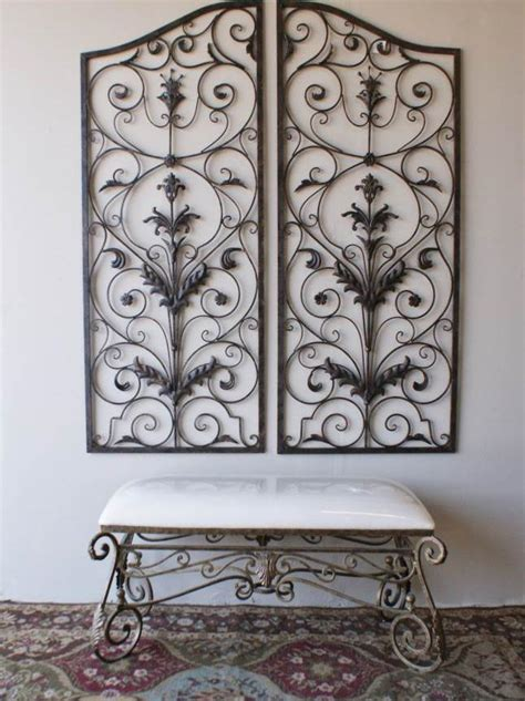 Outdoor You Can Find Outdoor Wrought Iron Wall Art In The Wrought Iron Garden Wall