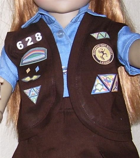 junior sash and vest girl scout vest brownie girl scouts and 18 inch doll on
