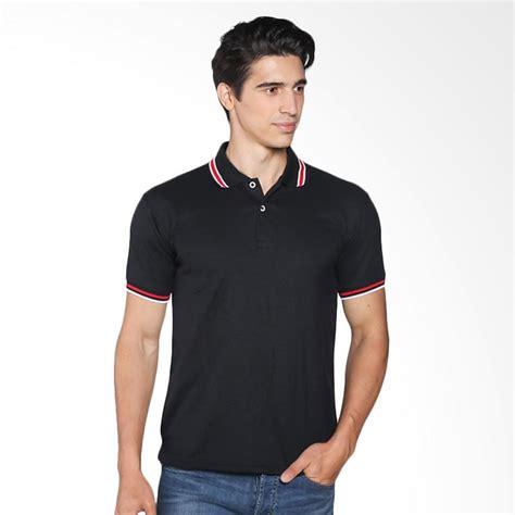 Polo Shirt Pria Polos Pendek Hitam jual vm polos pendek kaos polo shirt hitam