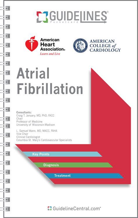 atrial fibrillation guidelines pocket card app acc aha