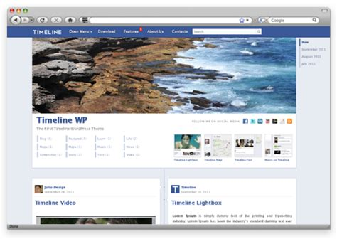 facebook themes in wordpress timeline wp theme wordpress mirip timeline facebook dani
