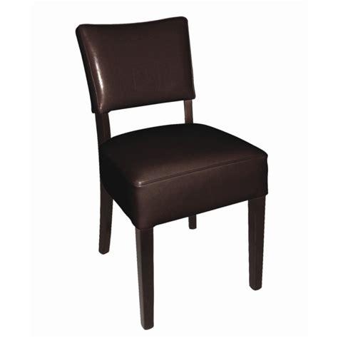 chaises en cuir chaises en simili cuir marron fonc 233 resto gastromastro
