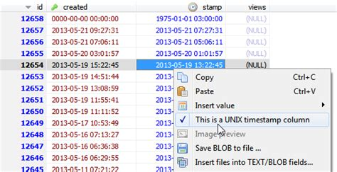 format date from mysql timest new feature display unix timests as date time values