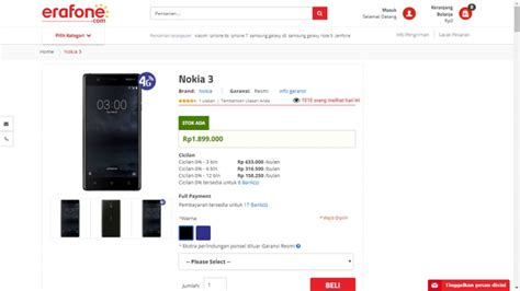 erafone website nokia 3 sudah bisa dibeli di indonesia ini harganya
