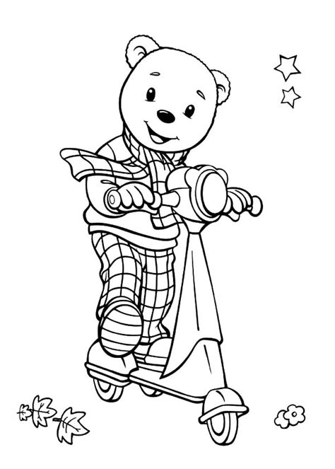 rupert bear coloring pages free rupert bear coloring pages