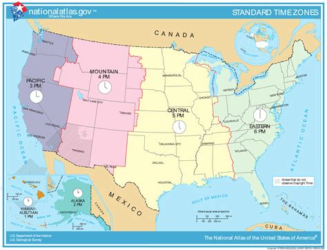us timezone map map of time zones of the united states the united states timezones map vidiani maps of