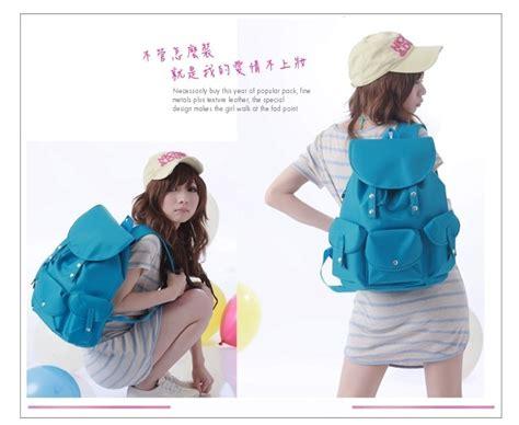 Tas Import Biru Cantik tas ransel wanita import murah model terbaru jual