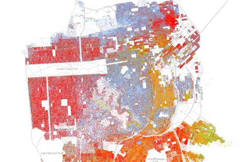 san francisco race map the best map made of america s racial segregation wired