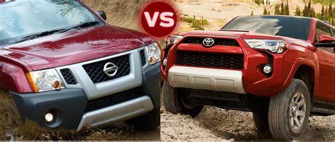 Nissan Pathfinder Vs Toyota 4runner 2015 Nissan Xterra Vs 2015 Toyota 4runner