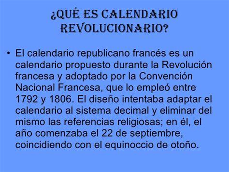 Calendario Revolucionario Frances Calendario De La Revoluci 243 N Francesa
