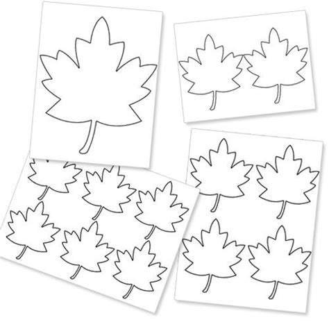 leaf pattern quotes fall leaves template printable dogs cuteness daily