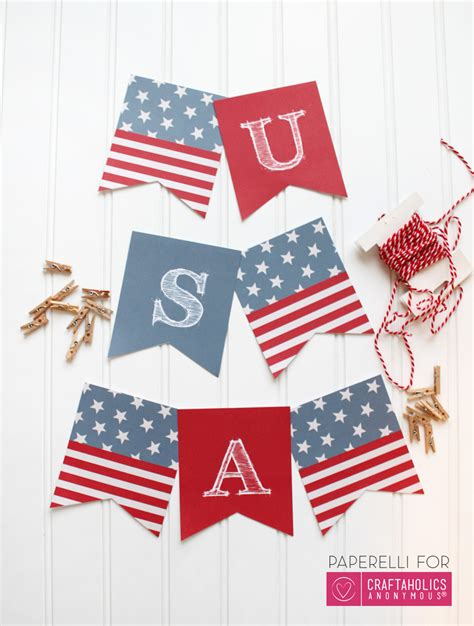 printable fourth of july banner craftaholics anonymous 174 printable patriotic banner