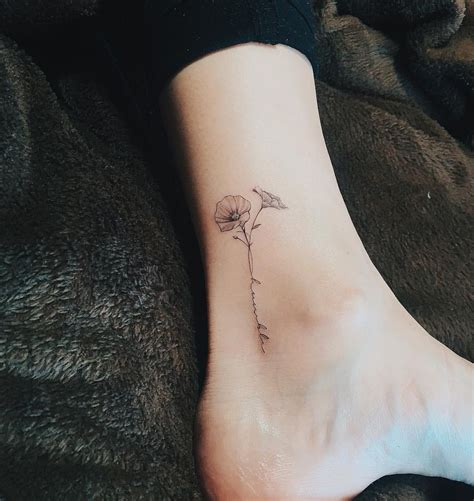dainty flower tattoo letters with flower instagram tattoos