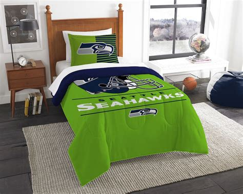seahawks bedding twin nfl seattle seahawks twin comforter set buy at team