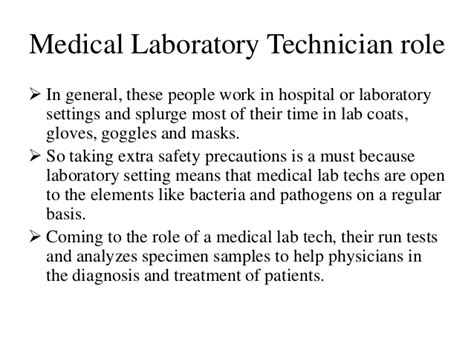 Lab Technician Duties And Responsibilities by Laboratory Technician In A Laboratory Setting