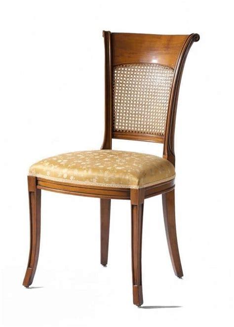 sedie per salotti sedia in noce sedile imbottito schienale in paglia di