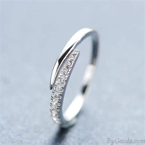 Rhinestone Ring Gold gold plated rhinestone opening silver ring fashion rings