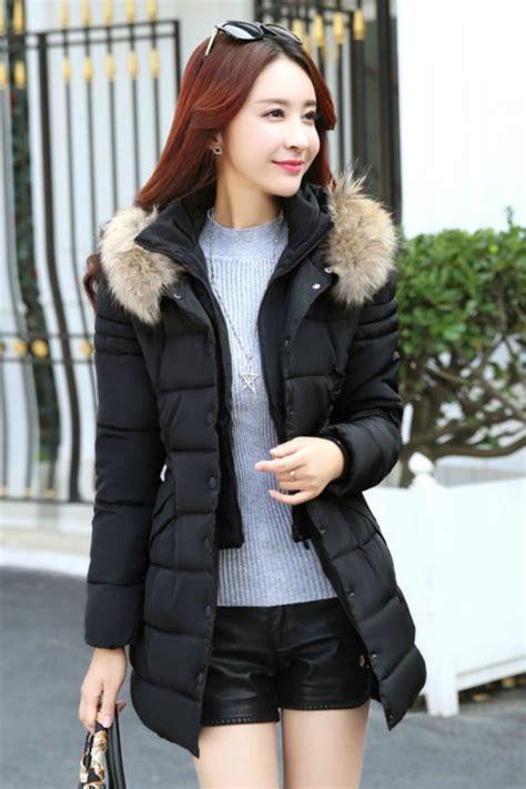 Bulu Korea jaket bulu korea big size black fur padded jacket