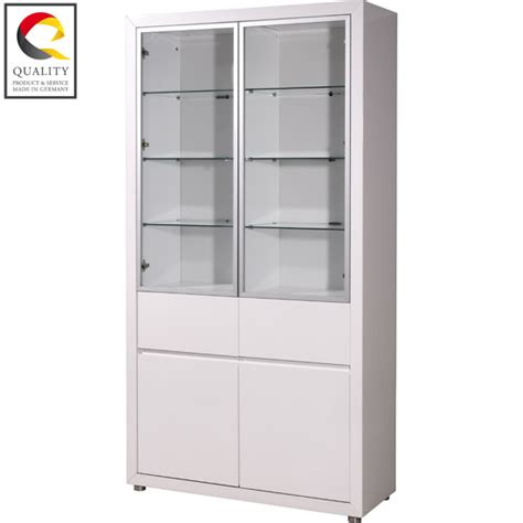 White Display Cabinet With Glass Doors Epsom Skin Clinic Recently Buys Fino Gloss White 4 Door Display Cabinet From Furnitureinfashion