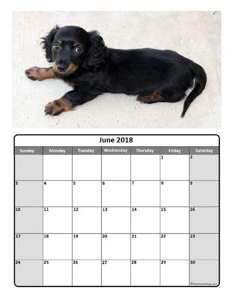Calendar 2018 Dogs January 2018 Calendar Year Pdf Printable