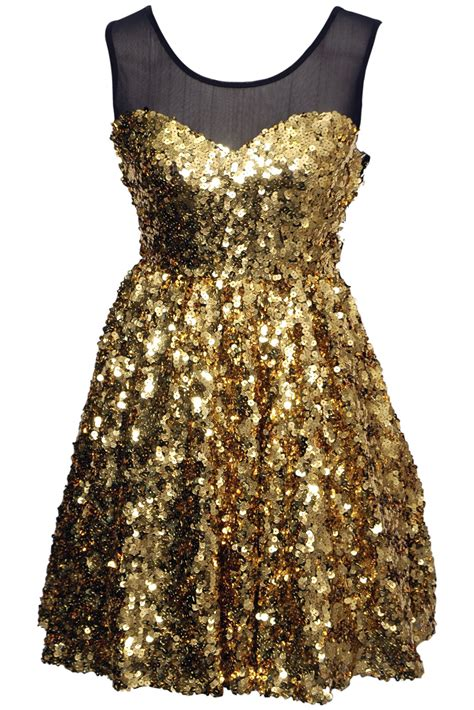 Glitera Dress black and gold sequin dress dresses trend