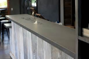 concrete bar top craftsman home bar san francisco