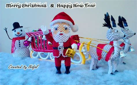 3d Origami Santa Claus - santa claus snowma album mohammad nofal 3d