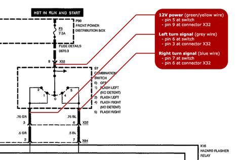 e46 turn signal wiring diagram wiring diagram with