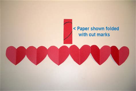 How To Make Paper Chain Hearts - chain paper craft project