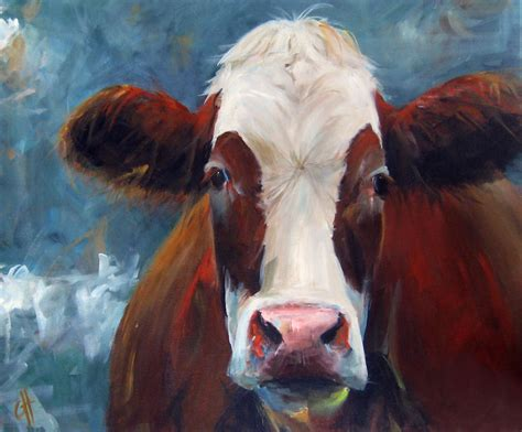 cari art cow painting cari humphry