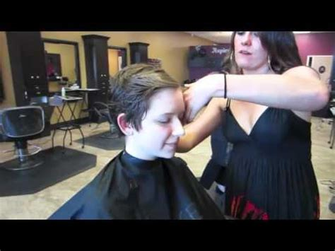 long toshort haircutting dailymotion long to short hair cut girl youtube