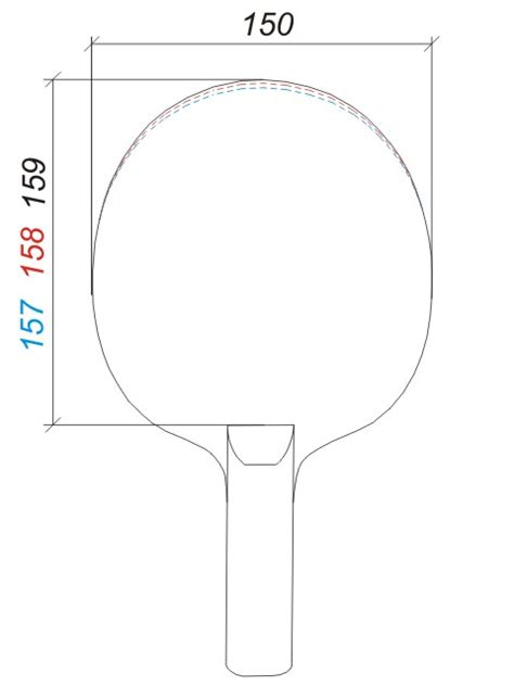 paddle template images for gt table tennis racket size