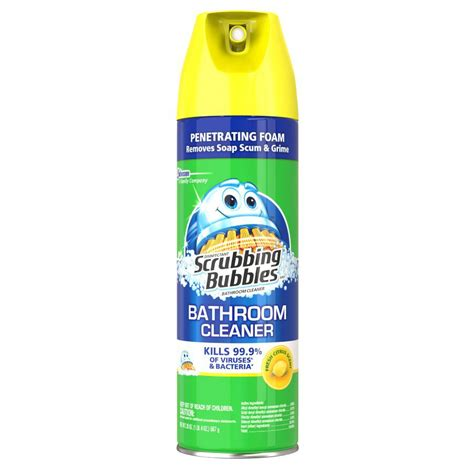 scrubbing bubbles bathtub cleaner shop scrubbing bubbles 20 fl oz shower and bathtub cleaner at lowes com