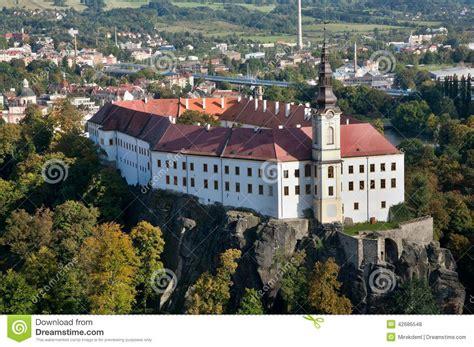decin tschechien schloss decin tschechische republik stockfoto bild