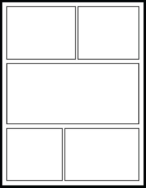 Blank Comic Pages Printables