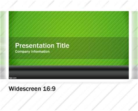 Green Widescreen Powerpoint Template Free Powerpoint Templates Widescreen Powerpoint Templates