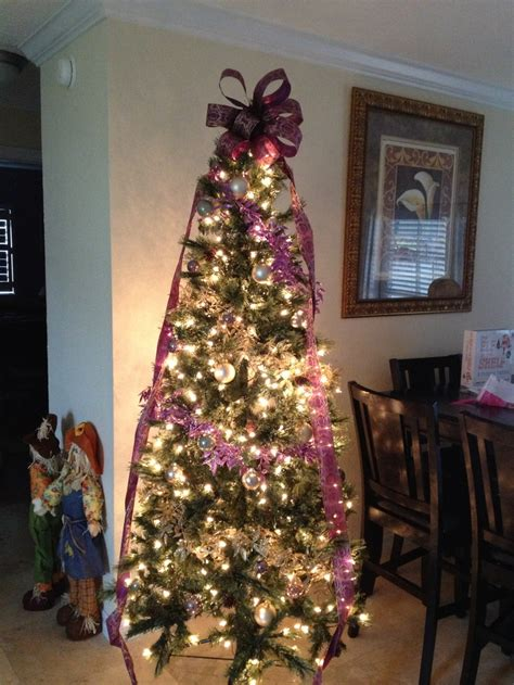 purple and gold christmas tree leatherneck holidays pinterest