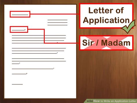 Application Letter Wikihow 3 Ways To Write An Application Letter Wikihow