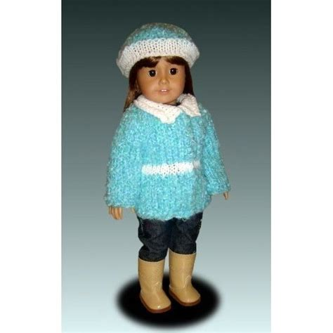 18 inch doll clothes knitting patterns knitting pattern for dolls fits american and 18 inch