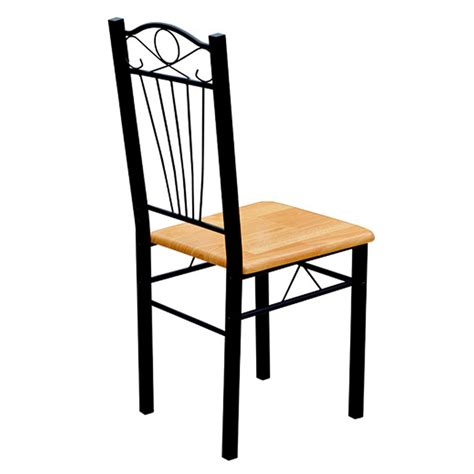 Metal Leg Dining Chairs 6 X Dining Kitchen Chairs Stools Set Table Wooden Chair Seat Metal Leg Furniture Ebay