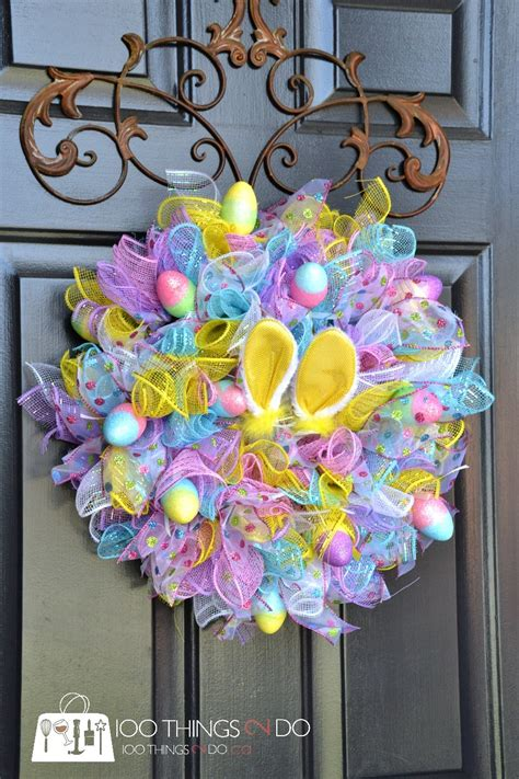 easy easter wreath using dollar store items 100 things