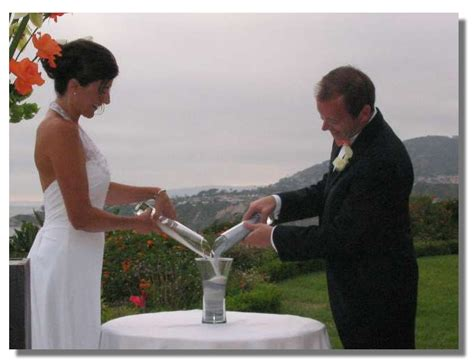wedding traditions sand pouring ceremony la wedding sand ceremony la wedding