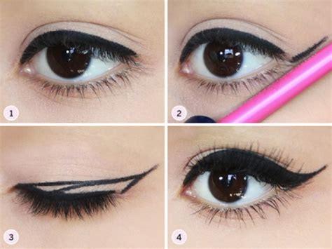 tutorial memakai eyeliner kuas tutorial eyeliner cat eye yang sesuai dengan bentuk matamu
