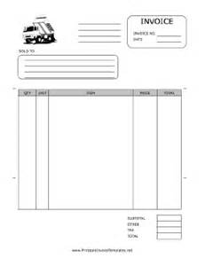 trucking invoice template hauling invoice template