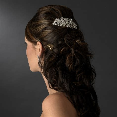 Wedding Hairstyles With Comb by Vintage Silver Clear Rhinestone Bridal Hair Comb